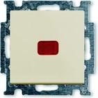 Выключатель 1 кл. с подсветкой, бежевый, ABB Basic 55 (1012-0-2156)