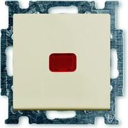 Переключатель 1 кл. с подсветкой и N-клеммой, бежевый, ABB Basic 55 (1012-0-2150)