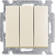 Выключатель 3 кл., бежевый, ABB Basic 55 (1012-0-2158)