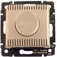 Светорегулятор поворотный 1000Вт - диммер - слоновая кость