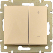 Светорегулятор 4-х кнопочный нажимной 40-600Вт - слоновая кость Legrand Valena 774174
