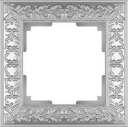 Рамка на 1 пост, WL07-Frame-01 - жемчужный, металл, Werkel Antik