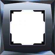 Рамка 1 пост, WL08-Frame-01 - черный, стекло, Werkel Diamant