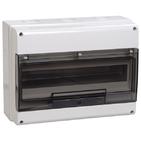 16 модулей Бокс настенного монтажа ЩРн-П-16 IP66 пластиковый белый прозрачная дверь IEK MKP73-N-16-66