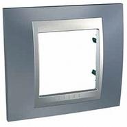 Рамка 1 пост грей/алюминий Schneider Electric/Unica Top MGU66.002.097