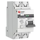 Дифавтомат 2P (1P+N) С20 300мА тип S (селективный) EKF PROxima АД-32