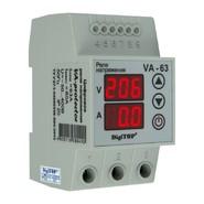 Реле напряжения с контролем тока 63A однофазное (3 мод.) DigiTop