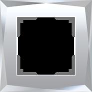 Рамка на 1 пост, WL08-Frame-01 - зеркальный, стекло, Werkel Diamant
