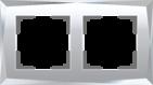 Рамка на 2 поста, WL08-Frame-02 - зеркальный, стекло, Werkel Diamant