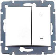 Светорегулятор клавишный 4-х кнопочный, диммер - 40-400Вт - белый