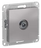Розетка ТВ оконечная 1DB, механизм - алюминий, Schneider Atlas Design
