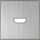 Накладка для розетки HDMI, WL02-HDMI-CP - глянцевый никель, Werkel