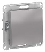 Выключатель с самовозвратом, сх.1, 10АХ, механизм - алюминий, Schneider Atlas Design