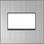 Накладка для двойной компьютерной розетки RJ-45, WL02-RJ45+RJ45-CP - глянцевый никель, Werkel