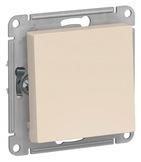 Выключатель с самовозвратом, сх.1, 10АХ, механизм - бежевый, Schneider Atlas Design