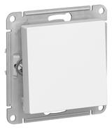 Выключатель с самовозвратом, сх.1, 10АХ, механизм - белый, Schneider Atlas Design