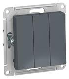 Выключатель 3 кл, сх.1+1+1, 10АХ, механизм - грифель, Schneider Atlas Design