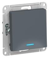 Выключатель 1 кл с подсветкой, сх.1а, 10АХ, механизм - грифель, Schneider Atlas Design