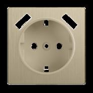 Накладка для розетки USB, WL10-USB-CP - шампань рифленый, Werkel