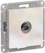 Розетка ТВ проходная 4DB, механизм - жемчуг, Schneider Atlas Design