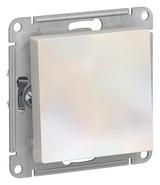 Выключатель с самовозвратом, сх.1, 10АХ, механизм - жемчуг, Schneider Atlas Design