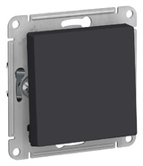 Выключатель с самовозвратом, сх.1, 10АХ, механизм - карбон, Schneider Atlas Design