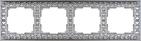 Рамка на 4 поста, WL07-Frame-04 - матовый хром, металл, Werkel Antik