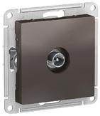 Розетка ТВ проходная 4DB, механизм - мокко, Schneider Atlas Design