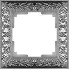 Рамка на 1 пост, WL07-Frame-01 - матовый хром, металл, Werkel Antik