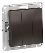 Выключатель 3 кл, сх.1+1+1, 10АХ, механизм - мокко, Schneider Atlas Design