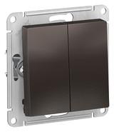 Выключатель 2 кл, сх.5, 10АХ, механизм - мокко, Schneider Atlas Design