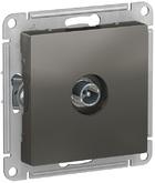 Розетка ТВ проходная 4DB, механизм - сталь, Schneider Atlas Design