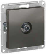 Розетка ТВ оконечная 1DB, механизм - сталь, Schneider Atlas Design
