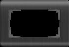 Рамка для двойной розетки, WL12-Frame-01-DBL - графит, пластик, Werkel Stream