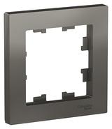 Рамка 1 пост - сталь, Schneider Atlas Design