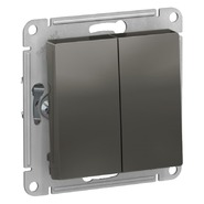Переключатель 2 кл, сх.6/2, 10АХ, механизм - сталь, Schneider Atlas Design
