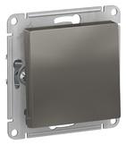 Выключатель 1 кл, сх.1, 10АХ, механизм - сталь, Schneider Atlas Design