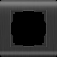 Рамка на 1 пост, WL12-Frame-01 - графит, пластик, Werkel Stream