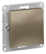 Выключатель с самовозвратом, сх.1, 10АХ, механизм - шампань, Schneider Atlas Design