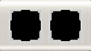 Рамка на 2 поста, WL12-Frame-02 - перламутровый, пластик, Werkel Stream