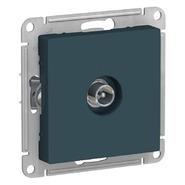 Розетка ТВ оконечная 1DB, механизм - изумруд, Schneider Atlas Design