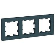 Рамка 3 поста - изумруд, Schneider Atlas Design