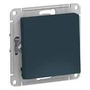 Выключатель с самовозвратом, сх.1, 10АХ, механизм - изумруд, Schneider Atlas Design