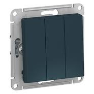 Выключатель 3 кл, сх.1+1+1, 10АХ, механизм - изумруд, Schneider Atlas Design