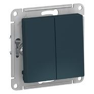 Выключатель 2 кл, сх.5, 10АХ, механизм - изумруд, Schneider Atlas Design
