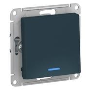 Выключатель 1 кл с подсветкой, сх.1а, 10АХ, механизм - изумруд, Schneider Atlas Design