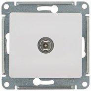 Антенна TV коннектор, механизм - белый, Schneider Glossa