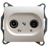 Розетка TV-R оконечная 1DB, механизм - перламутр, Schneider Glossa
