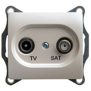 Розетка TV-SAT оконечная 1DB, механизм - перламутр, Schneider Glossa