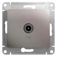 Антенна TV коннектор, механизм - платина, Schneider Glossa